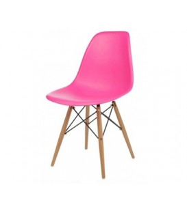 Moderní židle design modern DSW retro RŮŽOVÁ C-173