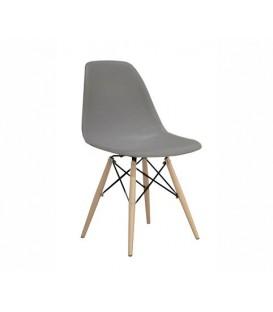 Moderní židle design modern DSW retro ŠEDÁ C-173