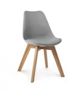 Moderní židle design modern DSW retro ŠEDÁ C-487