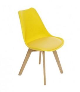 Moderní židle design modern DSW retro ŽLUTÁ C-487