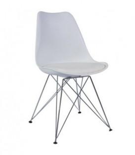 Moderní židle do jídelny design BÍLÁ C-517