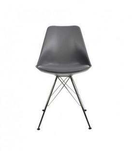 Moderní židle do jídelny design ŠEDÁ C-517