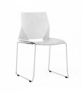 Moderní židle do jídelny obývacího pokoje BÍLÉ