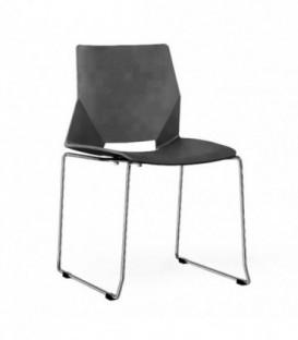 Moderní židle do jídelny obývacího pokoje ČERNÁ