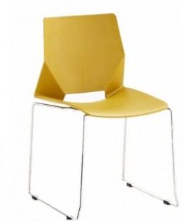 Moderní židle do jídelny obývacího pokoje kanceláře ŽLUTÁ