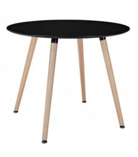 Moderní kulatý stůl 100cm modern černý