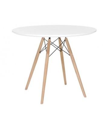 Moderní kulatý stůl 80 cm modern DSW DSR eiffel bílý