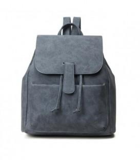 Kožená batoh  modrý M96