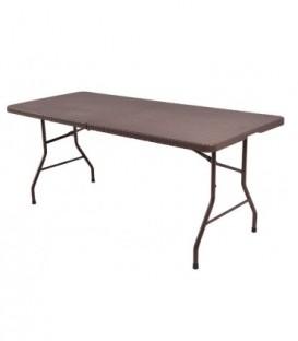 Ratan stůl skládací zahradní ratan banket 180