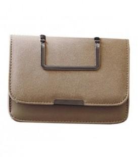 Dámská KOŽENÁ kabelka na rameno béžový  WB1758
