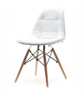 Čalouněná židle hokey lyon BÍLÁ C-400