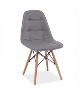Čalouněná židle hoker lyon ŠEDÁ C-400
