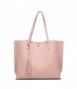 Dámská kožená kabelka velká růžový WS1008