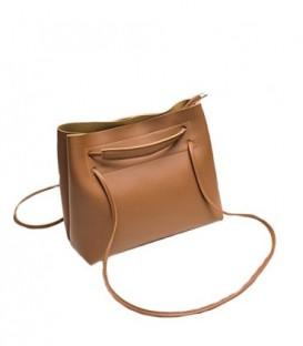Dámská velká kabelka na rameno shopper 18006 hnědý