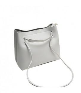 Dámská velká kabelka na rameno shopper 18006 šedá