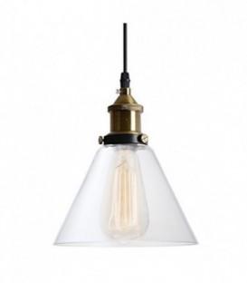 vintage retro LAMPA závěsná skleněné stínidlo loft