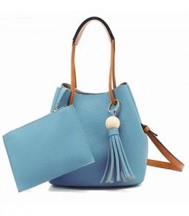 Sada 2w1: velká kabelka + pytlík modrý j03