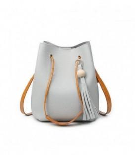 Sada 2w1: velká kabelka + pytlík šedá j03