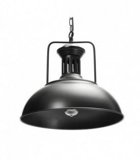 lustr loft stropní LAMPA černá vintage kov