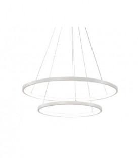 Lustr kroužky lampa kruhy obruče LED 40 + 60cm 45w