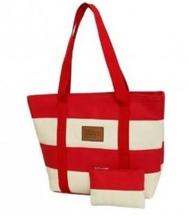 Plážová taška spruhy námořnická pláž barvy červená C5