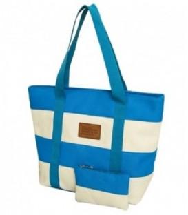 Plážová taška spruhy námořnická pláž barvy NIEBIESKA C5