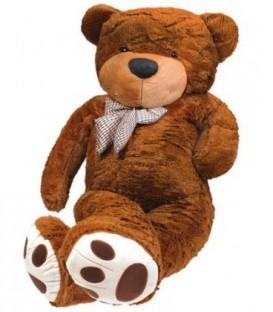 Plyšový medvěd 160 cm tmavě hnědé