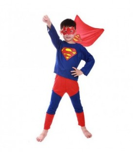 SUPERMAN kostým převlek 100 až 140 centimetrů