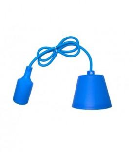 ZÁVĚSNÁ SILIKONOVÁ LAMPA - modrý