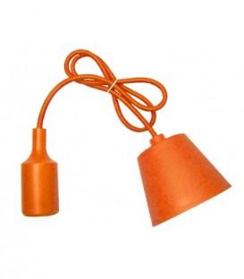 ZÁVĚSNÁ SILIKONOVÁ LAMPA - oranžový