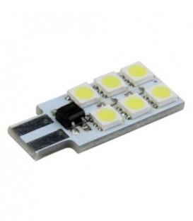 Žárovka LED LB24 T10-5050-6 Non-polar modrá