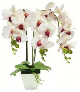 UMĚLÁ ORCHIDEJ v krásném růžovou květináči
