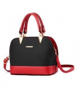 Dámská malá kožená kabelka kufřík  červená