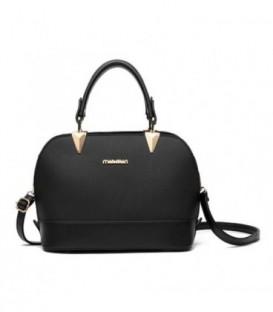 Dámská malá kožená kabelka kufřík černá