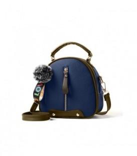 Dámská kabelka kufřík přívěsek navy