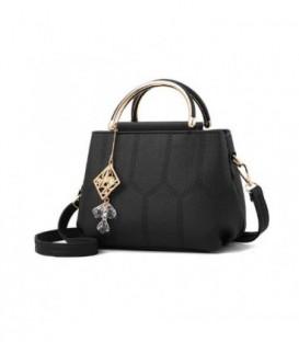 Dámská kožená kabelka kufřík černá