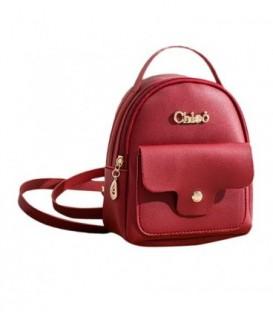 Kožená batoh malý červená