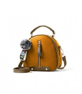 Dámská kabelka kufřík přívěsek hnědá