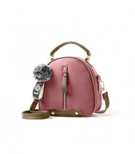 Dámská kabelka kufřík přívěsek růžový