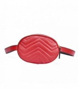 kabelka vak ledvinka na bedra ramena AB18032 červená