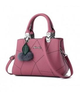 Dámská kožená kabelka přívěsek růžový