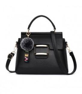 Dámská kabelka kufřík přívěsek černá