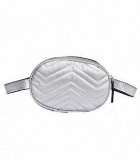 kabelka vak ledvinka na bedra ramena AB18032 stříbro