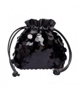 Dámská kabelka malý flitry černá
