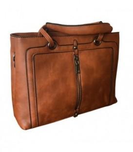 Dámská kožená taška hnědá