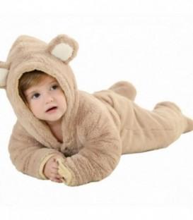 PYŽAMO oneie kigurumi pro děti HNĚDÝ MEDVĚD