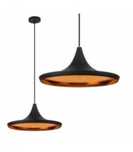 stropní lampa visící edison loft gold černá