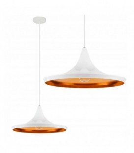 stropní lampa visící edison loft gold bílá