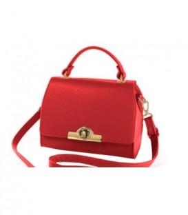 Dámská kabelka kufřík zarka kůže kožená červená WB15