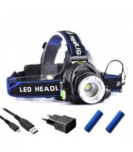 ČELOVKA USB LED ZOOM CREE XM-L T6
